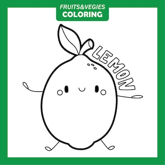 Legumes e frutas para colorir personagens limão