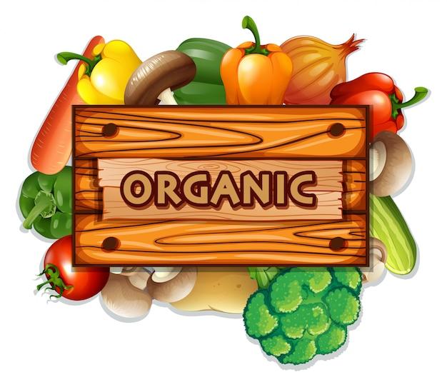 Legumes e tábua orgânicos