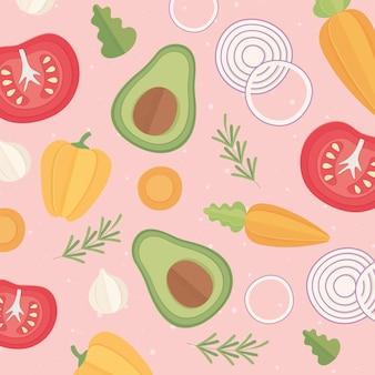 Legumes frescos comidas