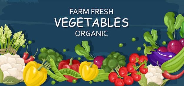 Legumes frescos de fazenda