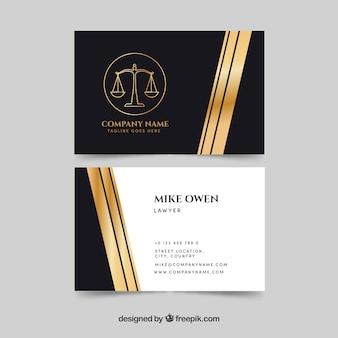 Lei e justiça cartão de visita templateq