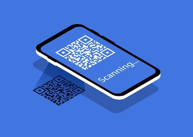 Leia o código qr. código qr de verificação.