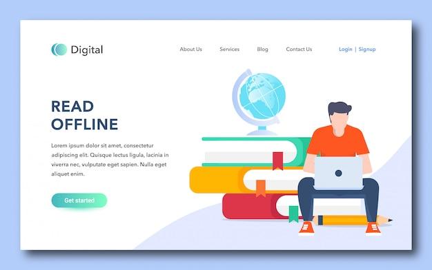 Leia o design da página de destino offline