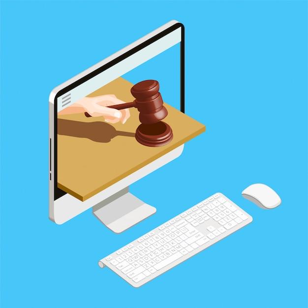 Leilão de computador on-line