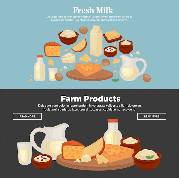 Leite e produtos agrícolas de leite