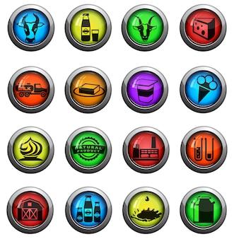 Leite. simplesmente símbolo para ícones da web no eps 10