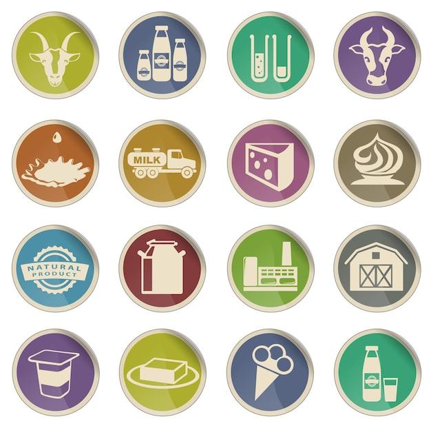 Leite. simplesmente símbolo para ícones da web