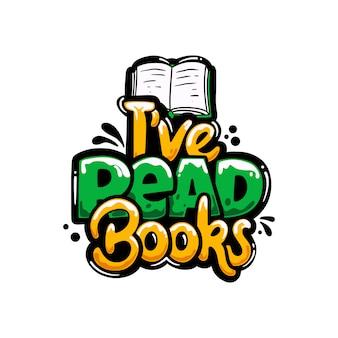 Leitura livros hobbies grafite letras design