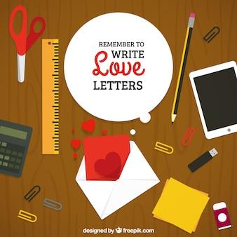 Lembre-se de escrever cartas de amor