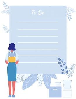 Lembrete da lista de tarefas para alunos com simples