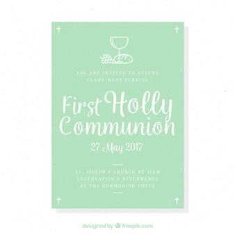 Lembrete da primeira comunhão