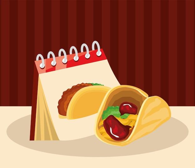 Lembrete de calendário taco
