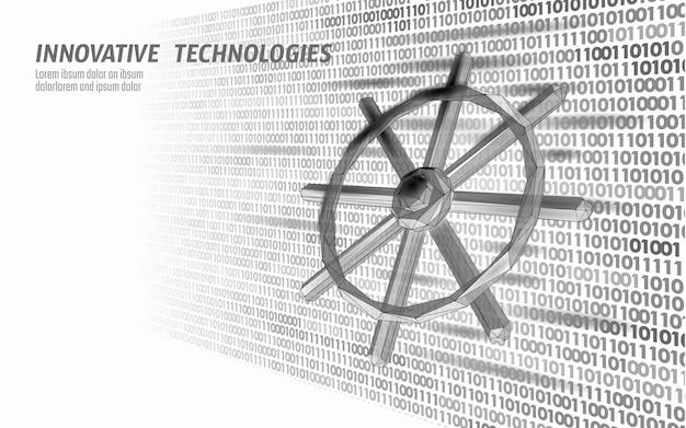 Leme de roda, desenvolvedor de computador, conceito de aplicativo de negócios digital de código aberto, programação de dados de direção ...