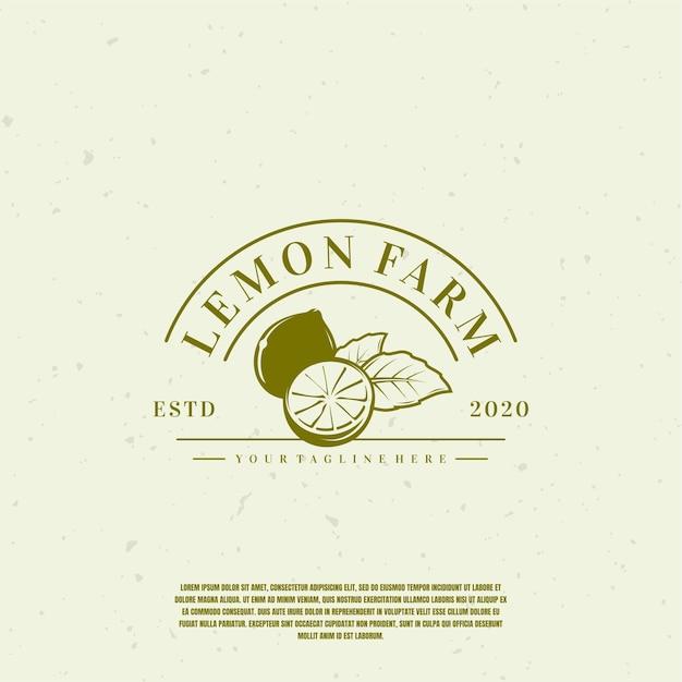 Lemon ilustração logo premium