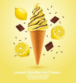 Lemon sundae soft serve