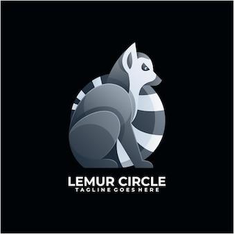 Lémur abstrato com design de logotipo em cor moderna
