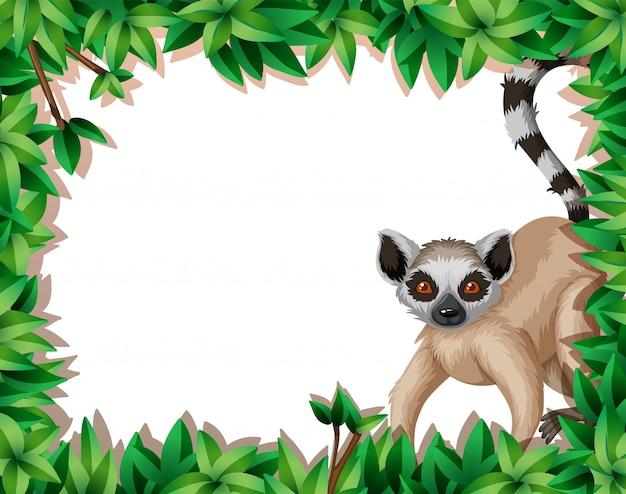 Lemur em quadro de natureza