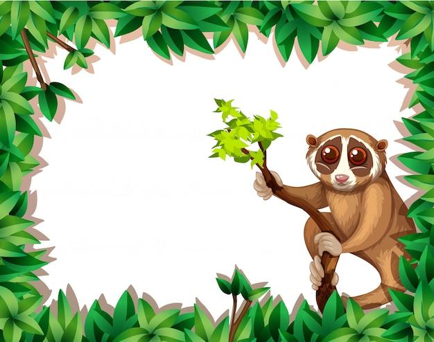 Lemur no cartão do ramo