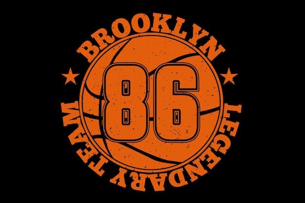 Lendária equipe de basquete vintage do brooklyn