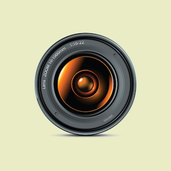 Lente da foto da câmera