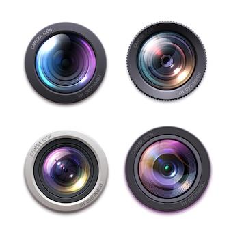 Lente de câmera fotográfica, óptica.