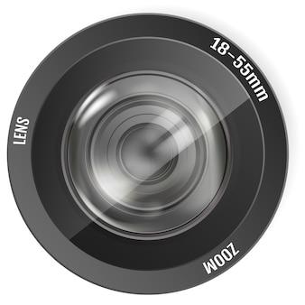 Lente de foto realista moderna. lente de câmera fotográfica
