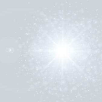 Lente flare luz e brilho efeito bokeh vector
