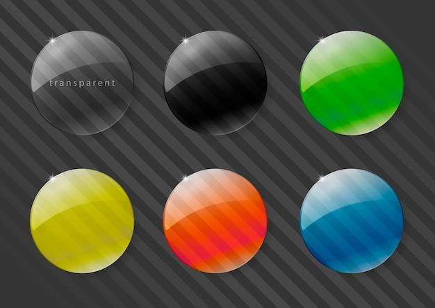 Lentes de vidro multicoloridas