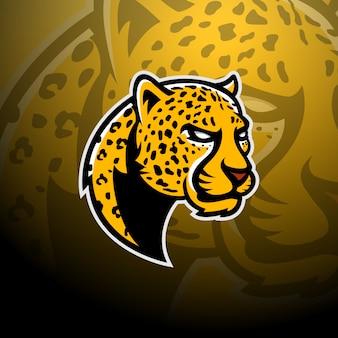 Leopard head logo gaming esport