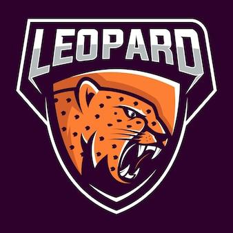 Leopardo agressivo com raiva