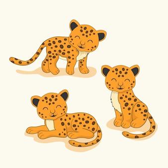 Leopardo animal dos desenhos animados da chita de jaguar