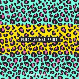 Leopardo fundo colorido abstrato