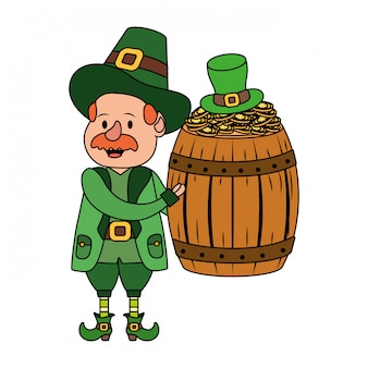 Leprechaun com barril