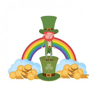 Leprechaun com o personagem de avatar de arco-íris