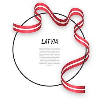 Letônia 3d com bandeira nacional.