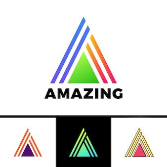 Letra a anexada em um triângulo