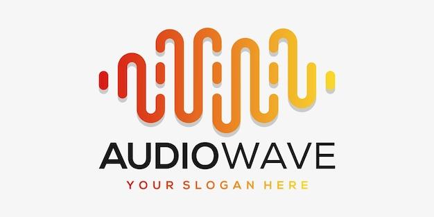 Letra a com pulso. elemento leitor de música. modelo de logotipo música eletrônica, equalizador, loja, dj, boate, discoteca. conceito de logotipo de onda de áudio,