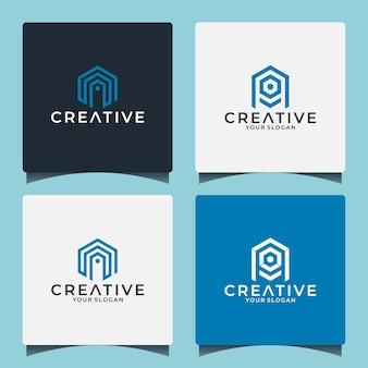Letra a, ideia de design de logotipo