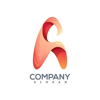 Letra a logotipo pronto para uso
