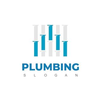 Letra a, modelo de design de logotipo de tubo para identidade da empresa de encanamento