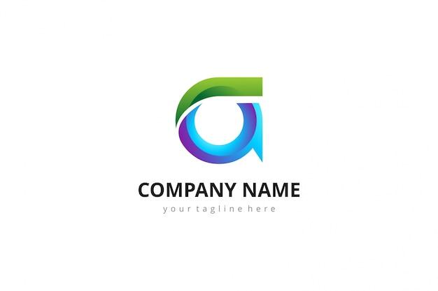 Letra abstrata 3d a logo