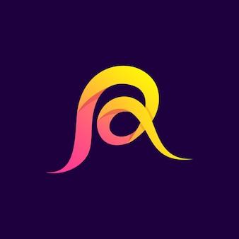 Letra abstrata colorida r logo premium