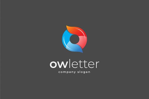 Letra abstrata ou modelo de logotipo 3d