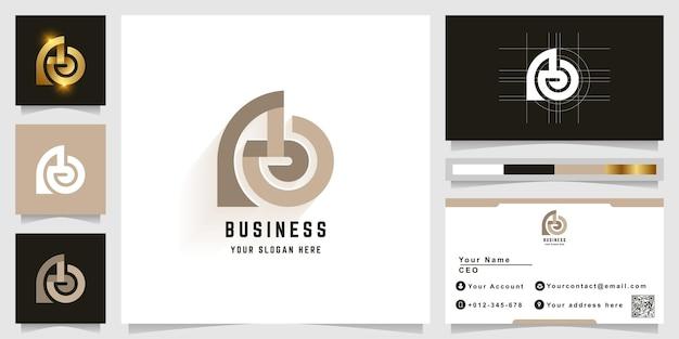Letra ao ou logotipo do monograma ab com design de cartão de visita