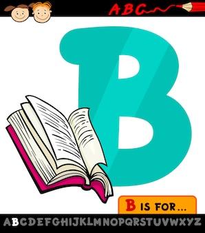 Letra b com ilustração do livro de desenhos animados