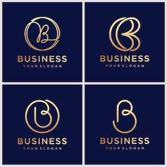 Letra b modelo de design de logotipo