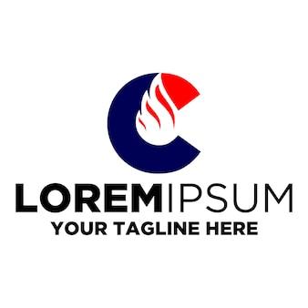Letra c flare logotipo
