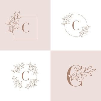 Letra c logo design ilustração vetorial