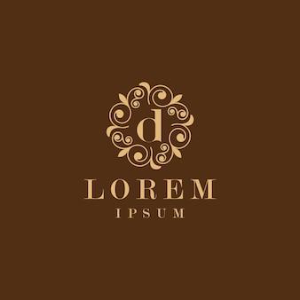 Letra d floral logo
