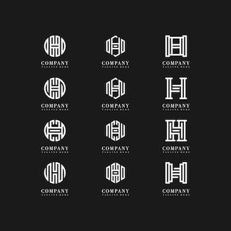 Letra de coleção h design de logotipo